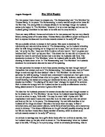 Analysing thomas hardys the workbox english literature essay