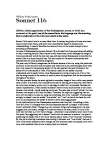 sonnet write a critical appreciation of this shakespearian page 1 zoom in