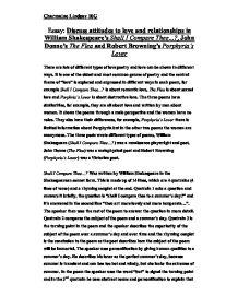 essay on john donnes the flea