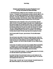 my last duchess essay introduction