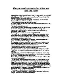 the voice hardy essay