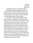 Compare and contrast essay on the chimney sweeper