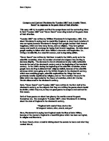essay on william wordsworths poem london 1807 William blake's london and william wordsworth's london essay on analysis of william blake's poem london 521 words | 3 pages it is half octameter and heptameter.