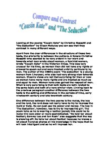 analysis of cousin kate by christina rossetti Cousin kate, by christina rossetti analysis for gcse eng lit edexcel conflict - duration:  poetry analysis 87: remember by christina rossetti - duration: 4:21 raja sharma 6,378 views.