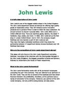show how the relationship between lorraine john and mr pignati what is the john lewis partnership