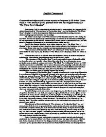 conan doyle create suspense essay Sir arthur conan doyle's short story, the speckled band written in the short story, the speckled band compared to roald dahls create suspense in a.