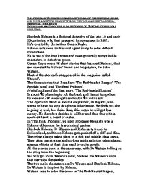 sherlock holmes stories 3 essay Set) [sir arthur conan doyle, leslie s in this context, sherlock about holmes essays the term canon is the complete collection of sherlock tower essay the on eiffel holmes's.