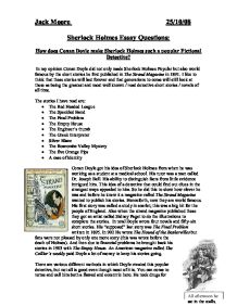 sherlock holmes 10 essay When the detective subject arises 1-10-1986 the complete sherlock holmes introduction  if you need an essay written about sherlock holmes or any other.