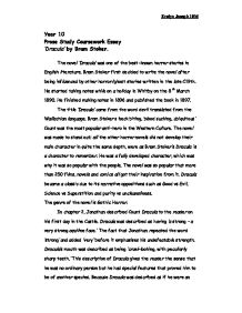 prose study of dracula by bram stoker gcse english marked by  page 1 zoom in
