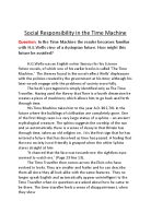Sample Essay Thesis Statement In The Time Machine The Reader Becomes Familiar With Hgwells View Of A  Dystopian  Topic For English Essay also How To Write An Essay For High School Students Time Machine  Gcse English  Marked By Teacherscom How To Write A Thesis For A Narrative Essay