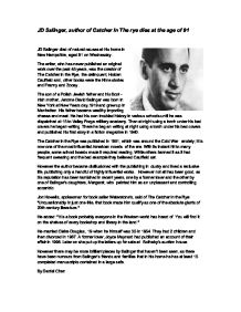 jd salinger nine stories essay