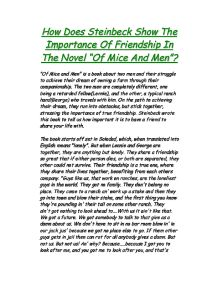 Free Friendship Essays and Papers - 123HelpMe com