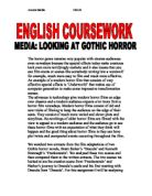 write a discursive essay looking at two or three films from media looking at gothic horror