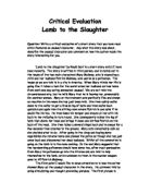 Lamb slaughter critical essays