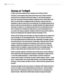 twilight theme essay Search the world's information, including webpages, images, videos and more google has many special features to help you find exactly what you're looking for.