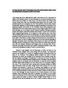 the strange case of dr jekyll and mr hyde bring out differences in character of jekyll and hyde essa Poligrafías revista de teoría literaria y literatura comparada núm 1 nueva Época 2011.