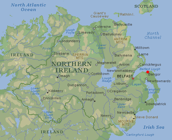 Map Of Northern Ireland Counties And Towns.Bangor Northern Ireland Gcse Geography Marked By Teachers Com