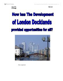 geography london docklands coursework