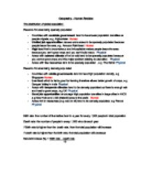 population essay does mother earth have the capacity to sustain human geography revision notes population patterns and changes