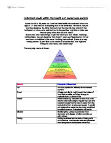 health and social as level coursework Curriculum overview level 2 award btec health and social care btec health and social care optional outline of course and examples of learning.