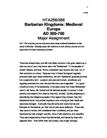 early medieval barbarians sense of ethnicity essay The millet system furnished, degree of religious, cultural, and ethnic continuity within these communities, while on the other it permitted their incorporation into the ottoman administrative, economic and political system.