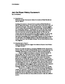 Jack the Ripper - source related analysis.