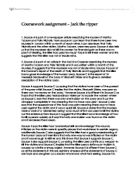 Jack ripper coursework assignment