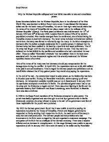 failure of weimar republic essay Account for the success and failures of the account for the success and failures of the weimar republic reasons for the failure of the weimar republic essay.