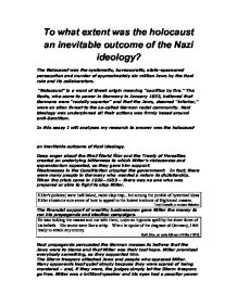 essays on nazi ideology Ib history essay: nazi ideology topics: adolf hitler nazi ideology or nazism was the ideology developed by adolf hitler and other prominent nazis in germany there were many existing ideologies that influenced nazism such as fascism and nationalism.