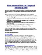Essay questions on the league of nations