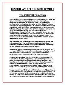 the aim of the gallipoli campaign and why it failed gcse   s role in world war ii the gallipoli