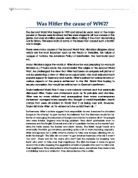 causes of world war gcse history marked by teachers com was hitler the cause of ww2 a j p taylor wrote the controversial the origins