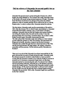 essay on the crimean war
