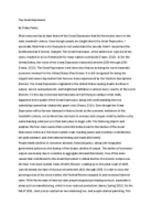 Photosynthesis Essay The Great Depression How To Write A High School Application Essay also Examples Of Essay Proposals Explain The Causes And Effects Of The Great Depression  Gcse  Essay On Modern Science