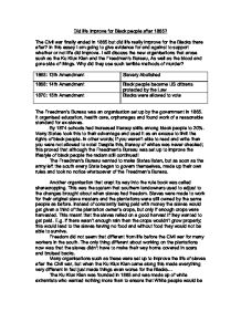 life for black people after 1865 essay How did the life of the black people change(after slavery) 1865-1965 history essay on racism towards black people back in america like life of pi essay.