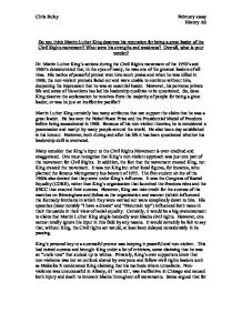 leadership essay on martin luther king