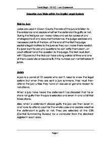 Courts and trials essay