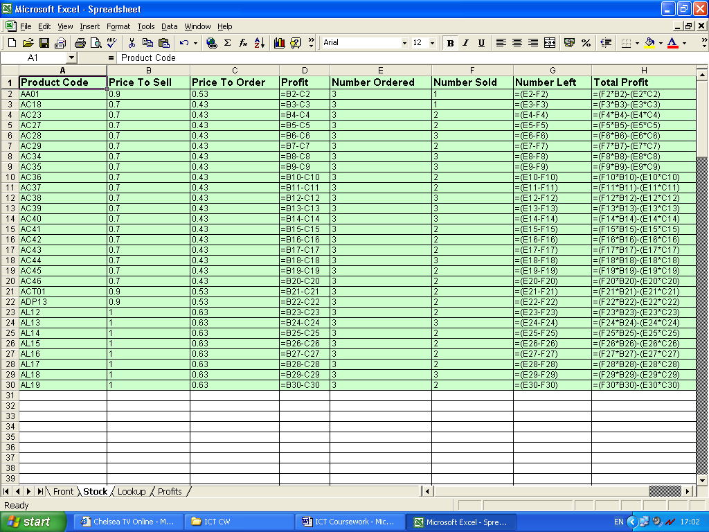 level ict spreadsheet coursework City & guilds spreadsheet processing techniques plan set parameters for work to be completed with spreadsheet applications level 2 take this course.