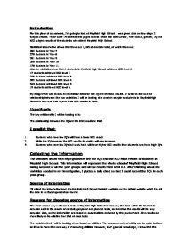 Mayfield high school statistics coursework