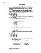 Pythagorean Triples Essay
