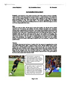 are footballers paid too much gcse miscellaneous marked by  page 1 zoom in