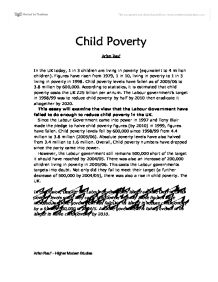 child poverty gcse miscellaneous marked by teachers com page 1 zoom in