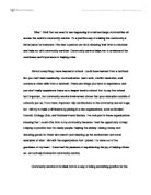 Community Service Essays Examples