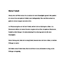 german essay freizeit German - my free time and part time jobs was machst du in deiner freizeit sign up to view the whole essay and download the pdf for anytime access on your.