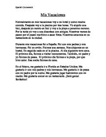 Essay in Spanish . Could someone check if it's right?