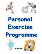 personal exercise plan coursework Extracts from this document introduction pep i am going to plan and conduct a personal exercise program the aims of the program are: to improve my current level of fitness, especially muscular strength, muscular endurance and agility.