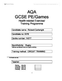 Sections B and C � A2 Coursework | A Level Physical Education
