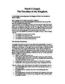 jesus parables essay