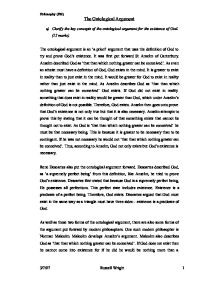 An analysis of the circumstances of authorship of the ontological argument