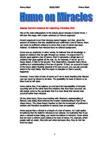 essay on miracles david hume